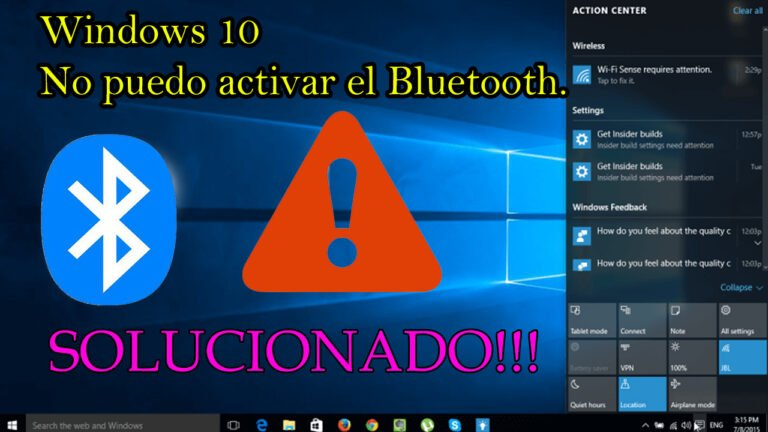 Bluetooth en Windows 10