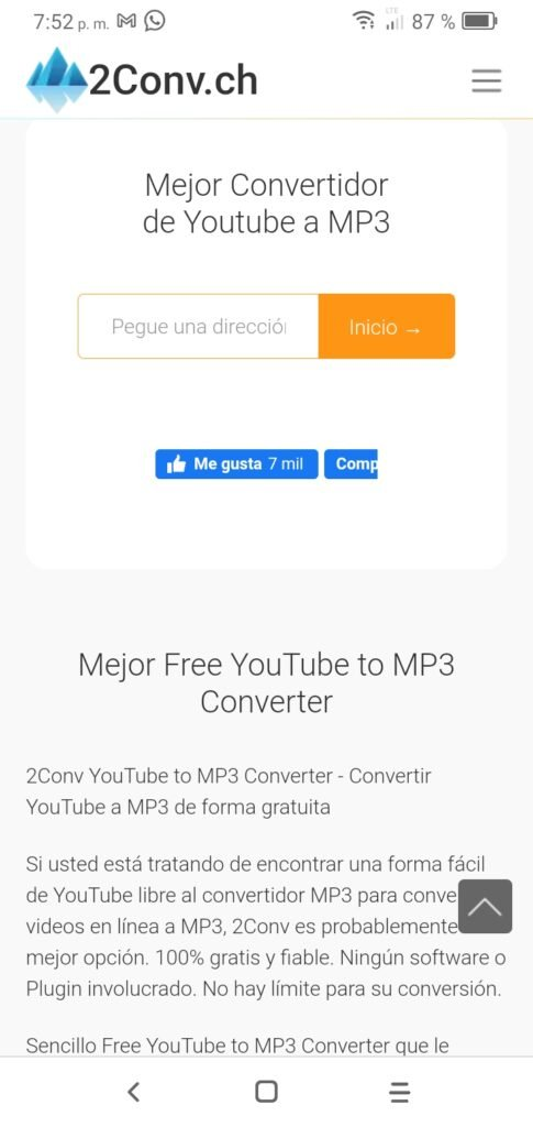 2conv youtube to mp3